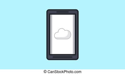 Cloud computing upload HD animation - Cloud computing from...
