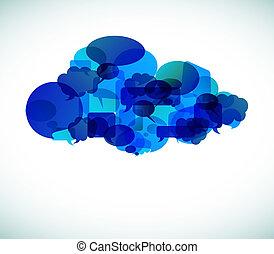 Cloud computing - vector illustration