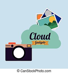 cloud computing , vector illustration