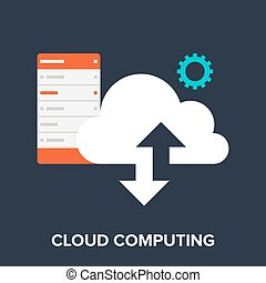 Cloud Computing - Vector illustration of cloud computing...