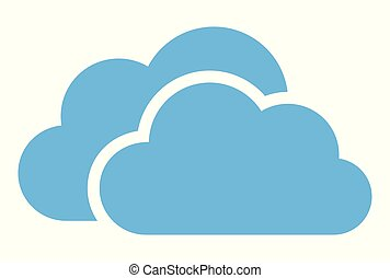 cloud computing vector logo dsign