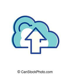 cloud computing with arrow icon