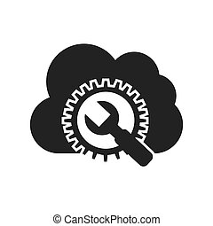 cloud computing with seo icon