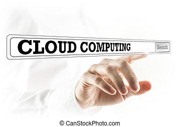 Cloud computing written in a navigation bar