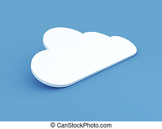 Cloud Concept on Blue Background