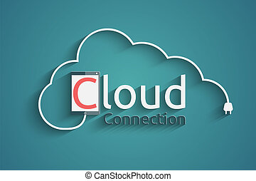 cloud connection concept, eps10 vector