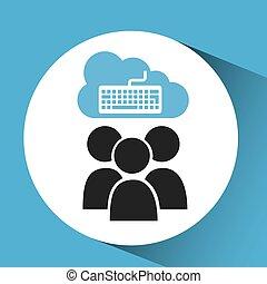 cloud connection social media keyboard