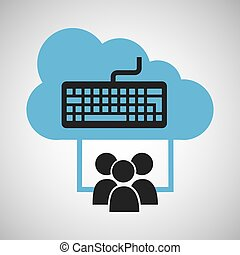 cloud connection social media keyboard