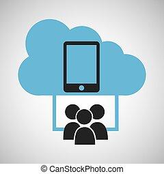 cloud connection social media smartphone