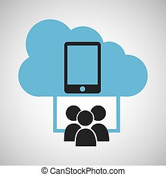 cloud connection social media smartphone