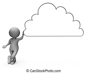 Cloud Copyspace Shows Blank Clouds And Cloudy 3d Rendering