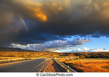 Cloud crosses the rainbow
