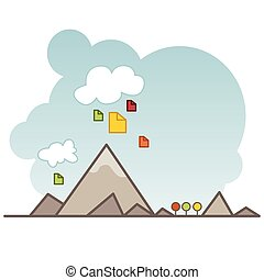 Cloud Data Storage Icon - An image of a cloud data storage...