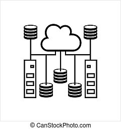 Cloud Database Icon, Data Base Icon