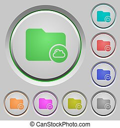 Cloud directory push buttons - Cloud directory color icons...