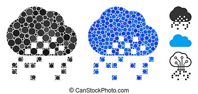 Cloud Dissipation Composition Icon of Spheric Items - Cloud ...