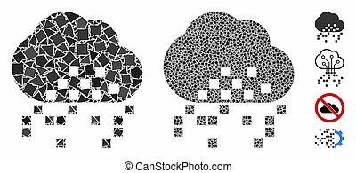 Cloud dissipation Mosaic Icon of Bumpy Parts - Cloud ...