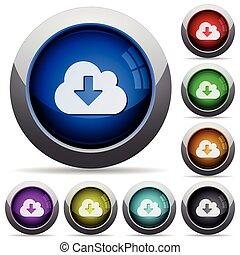 Cloud download button set