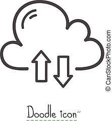 cloud download Doodle
