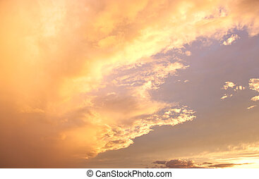 Cloud during the golden sunset