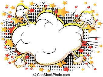 Cloud explosion with writing space - Vector comic book style...