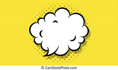 cloud expression pop art style animation - cloud expression...