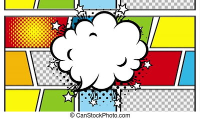 cloud expression pop art style animation