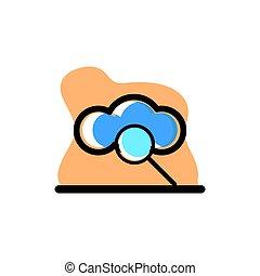 Cloud Finding Storage Icon Conceptual Vector Illustration Design