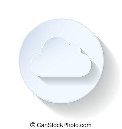 Cloud flat icon