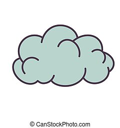 Cloud flat illustration on white