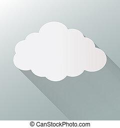 Cloud flat illustration vector. eps10 format.