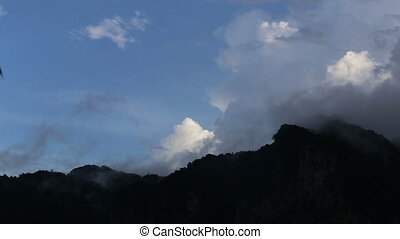 cloud float over the mountain