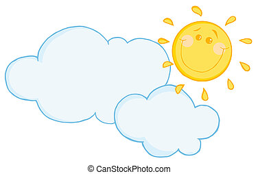 Cloud Floating Under A Happy Sun