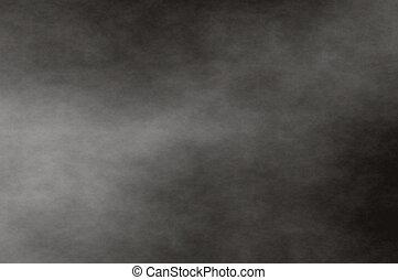 cloud fog - white fog on black background