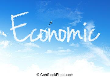 Cloud for business concept, Economic