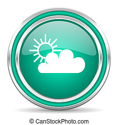 cloud green glossy web icon - green glossy web icon