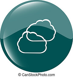Cloud green icon button