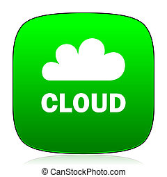 cloud green icon