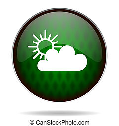 cloud green internet icon