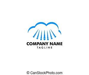 Cloud Hail Logo Vector Icon