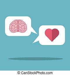 Cloud, heart and brain