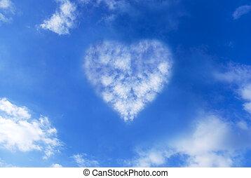 Cloud heart in the sky - Cloud heart in a blue sky...