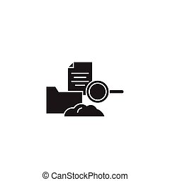 Cloud hosting black vector concept icon. Cloud hosting flat...
