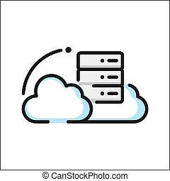 cloud hosting icon color