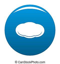Cloud icon blue
