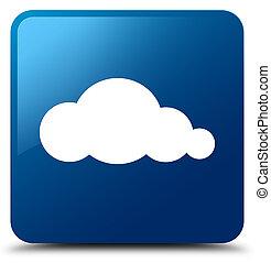 Cloud icon blue square button