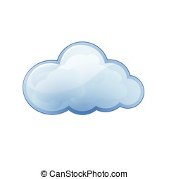 Cloud icon Blue vector illustration