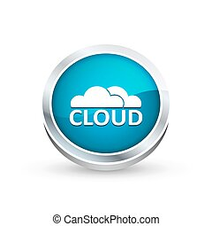 Cloud icon, button