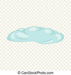 Cloud icon, cartoon style