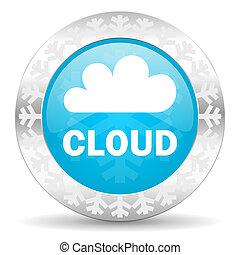 cloud icon, christmas button